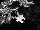 Celebrate all Pieces coming together Puzzle Charm for Weight Watchers Keychain