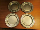 Set of 4 9 inch Wilton Armetale ( Pewter?) Plates