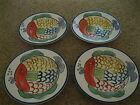 Tabletops Unlimited Pescada Soup Cereal Bowls - Fish Pattern - Set of 4