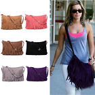 Lady Tassel Suede Fringe Shoulder Messenger Handbag Cross Body Bag Purse Gift US
