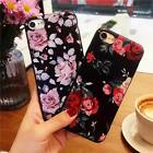Cute Floral Pattern Rubber Soft TPU Silicone Case Cover For iPhone 6 7 8 Plus X