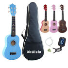 21in 4 String Ukulele Wood Ukelele Uke Hawaii Guitar with Bag + Electric Tuner