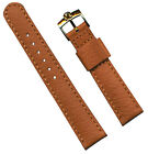 GOLD PLATE OMEGA BUCKLE 18mm GENUINE WILD BOAR STRAP FITS SEAMASTER LEATHER LINE