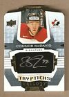 16-17 CONNOR McDAVID TRILOGY AUTOGRAPH TRYPTICHS AUTO SSP #d TO ONLY 20 MADE