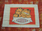 Vintage Garfield Pillow Case, 1978 (one copyright date), Sleeping Kitty Cat