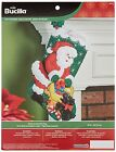 Bucilla Chritmas Stocking Felt Applique Stocking Kit, 86654 Santa