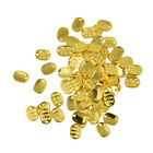50pcs Gold Tone Made With Love Charm Pendants Oval Beads For Jewelry Making