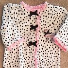 SWEET LITTLE ME PREEMIE POLKA DOT DOG FOOTED SLEEP N PLAY OUTFIT REBORN