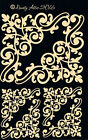 Dusty Attic ORNATE CORNER 6 Laser Cut Chipboard Scrapbook embellishment NEW