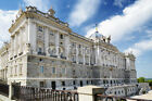"""Bild auf Leinwand: """"Side view of the north facade of the Royal Palace of Mad..."""""""