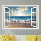 Beach Ocean Waves Wall Decal Sticker Graphic Art Mural 4 Sizes Available