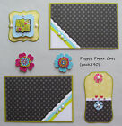 Premade Scrapbook Pages Mat Set Sewn YOU  ME Scrapbook Layout Card pack890