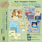 Paper Pizazz Busy Scrappers Solution Boys Baby  Toddler Papers by HOTP