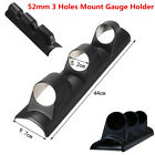 Black 2 52mm 3 Triple Holes Car Dash Gauge Mount Holder Pod Bendable Universal