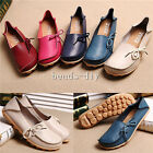 New Fashion Women Genuine Leather Casual Bowed Flat Shoes Moccasin Soft Loafers
