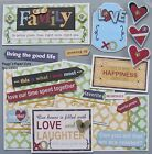 Premade Scrapbook Pages Mat Set Sewn HAPPY FAMILY Love Album Layout pack890