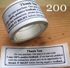 200 Thank You For Your Purchase ENVELOPE PACKAGE SEALS LABELS STICKERS 5 STAR