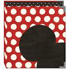 Scrapbook Album Binder Snap 6X8 Disney Mickey Mouse Ear Red White Dots + Pages