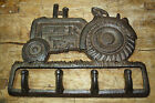Cast Iron TRACTOR Towel Coat Hooks Hat Hook Key Rack Rustic BROWN Finish