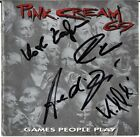 PINK CREAM 69 Games People Play FULLY SIGNED Andi Deris Helloween Ward AUTOGRAPH