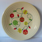 Fiesta DEPT STORE EXCLUSIVE Christmas Luncheon Plate LIGHTS & ORNAMENTS / NEW