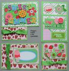 Premade Scrapbook Pages Mat Set SWEET SUMMER Lazy Days Album Layout Sewn pack890