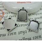 6pcs antiqued silver picture frame charm G447