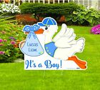 Its a Boy Lawn Stork Sign Welcome New Baby Birth Outdoor Yard Announcement