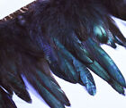 Yrb13 Brown Black 4 8 Wide Rooster Feather Fringe Trim Facinator Material