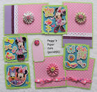 Premade Scrapbook Pages Mat Set SPRING INTO FUN Minnie Mouse Layout Sewn pack890