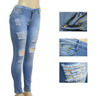 Vintage Plus Size Ladieswear New Women Torn Slim Retro Jeans Fashion