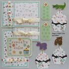 Premade Scrapbook Pages Mat Set CUPCAKE CUTIE Album Layout Sewn pack890