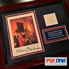 PSA DNA COA * BILL + HILLARY CLINTON * AUTOGRAPH Duo Signed WHITE HOUSE Card