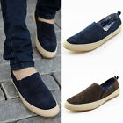 New Summer Mens Canvas Breathable Slip On Sneakers Loafers Casual Lazy Shoes
