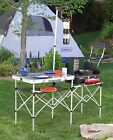Camping Table Portable Outdoor Kitchen Cooking Gear Folding Camp Station Coleman