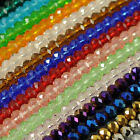 Lots 22 Colors Faceted Crystal Rondelle Loose Glass Beads Jewelry 6 8mm