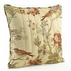 Waverly Charleston Chirp 20-Inch by 20-Inch Square Quilted Decorative Pillow New