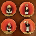 CERTIFIED INTERNATIONAL - DINNER IS SERVED - CANAPÉ PLATES - SET OF 4 - 6.5