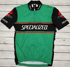 SPECIALIZED FACTORY TEAM CANNIBAL genuine retro mtb cycling GREEN JERSEY