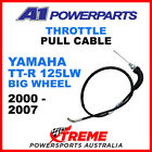 A1 Powerparts Yamaha TT-R125LW Big Wheel  2000-2007 Throttle Pull Cable 51-22W-1