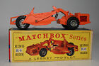MATCHBOX LESNEY KING SIZE K 6 ALLIS CHALMERS EARTH REMOVER SILVER HUBS BOXED
