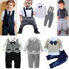 Toddler Infant Baby Boy Gentleman Suit Waistcoat Tops Shirt Pants Outfit Clothes
