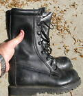 US Army cold weather insulated black leather boots, Size 6 1/2 Regular