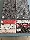 Printed Fabric 5 Yard Pieces Fabrics Red Black White Blue Dots and Patterns
