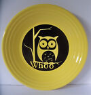 Fiesta Halloween NEW Owl Whoo Decal Sunflower Luncheon Plate 1st Quality