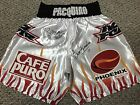 MANNY PACQUIAO ERIK MORALES DUAL SIGNED AUTO BOXING REPLICA SHORTS TRUNKS PSA 2