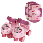 PlayWheels Disney Minnie Mouse Kids Roller Skates with Knee Pads Junior Size 6