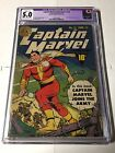 Captain Marvel Adventures 12 Cgc 50 Cr Ow Pages C 1 Tear Sears Only Very Slight