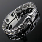 Mens Stainless Steel Polished Silver Heavy Huge Curb Link Chain Bracelet Bangle