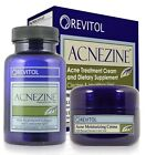Acnezine - 2 Part Acne Relief Kit Removes Pimples, Zits and Blemishes For Good